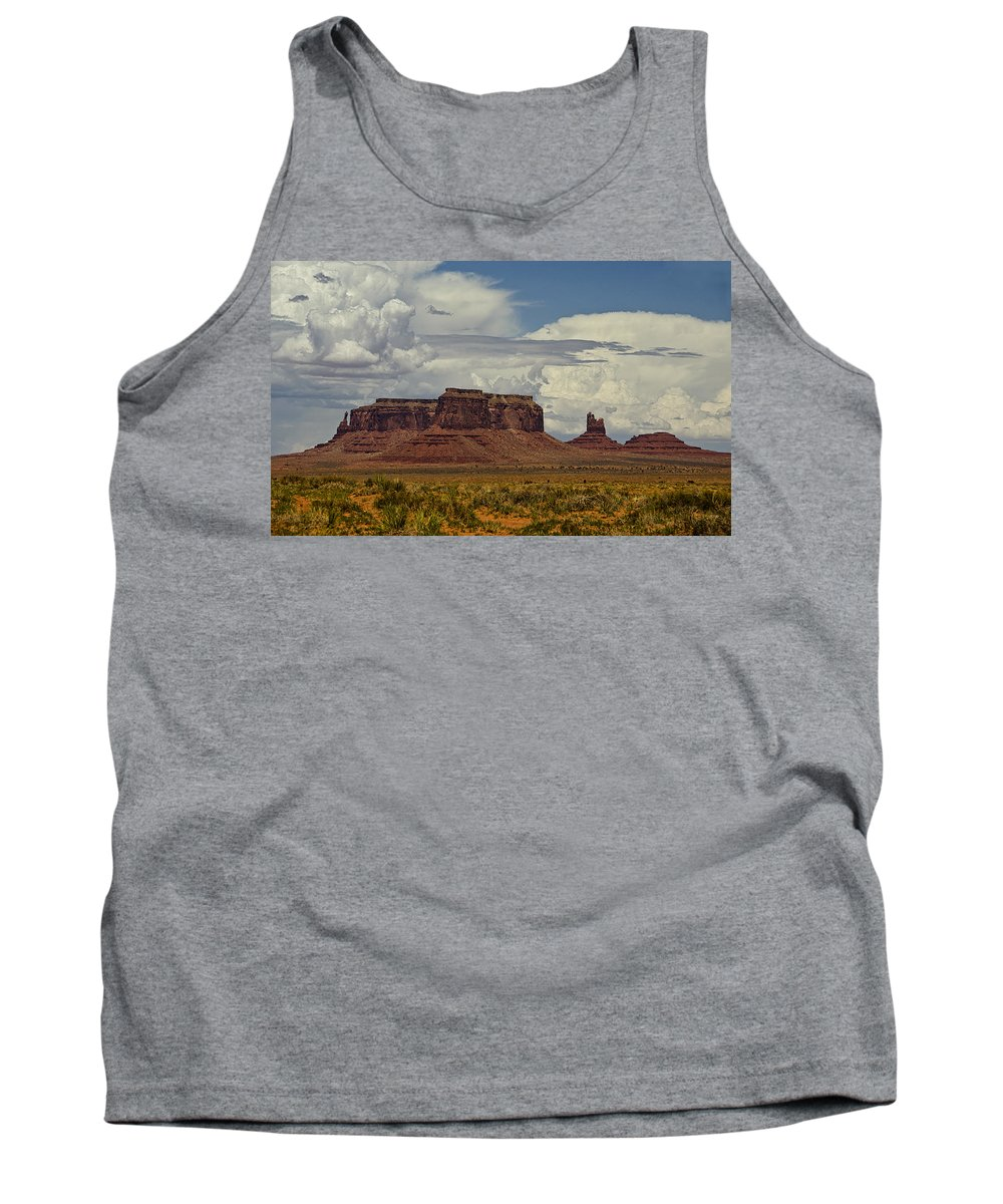 Monument Valley Tank Top featuring the photograph Monumental Clouds by Saija Lehtonen