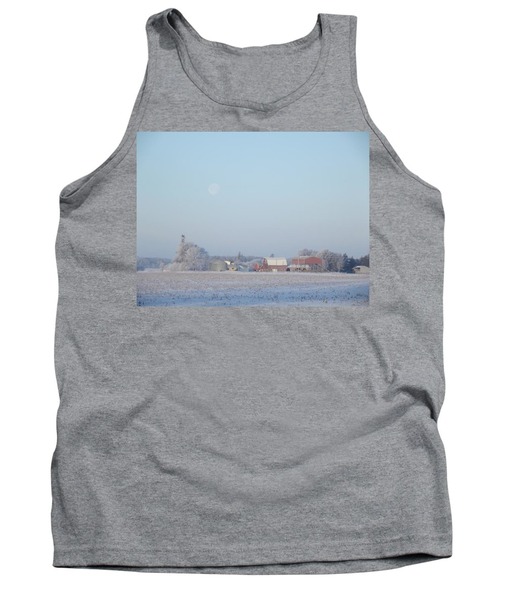 Frost Tank Top featuring the photograph Moon Farm by Bonfire Photography