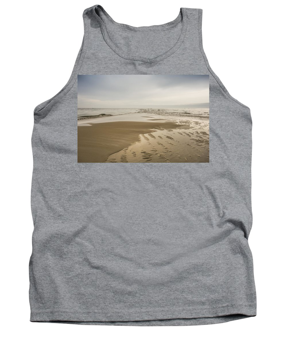 Sand Bar Tank Top featuring the photograph Morning At The End Of The Bar by David Stone