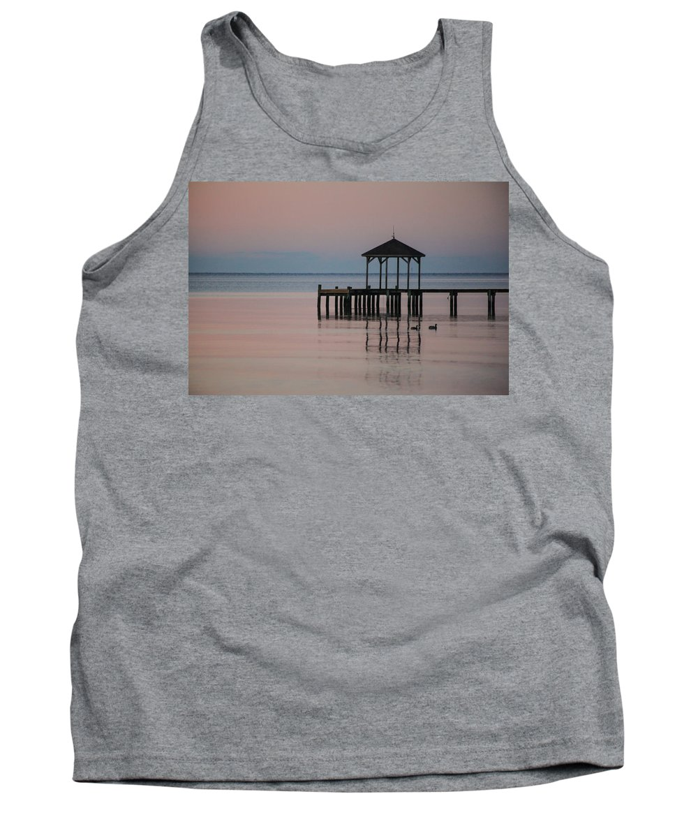 Ducks Tank Top featuring the photograph Morning Ducks by Paula OMalley