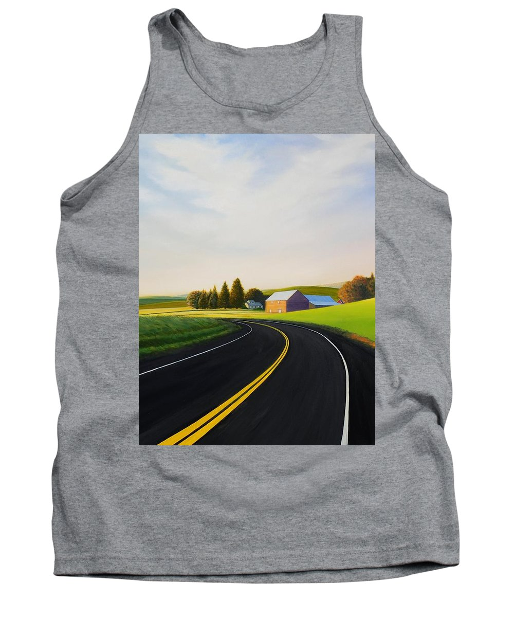 Barn Tank Top featuring the painting Morning near Rosalia by Leonard Heid