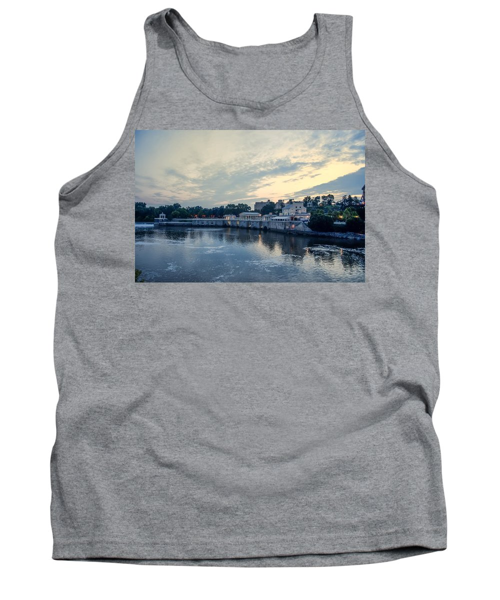 Morning Tank Top featuring the photograph Morning Skies On The Fairmount Waterworks by Bill Cannon