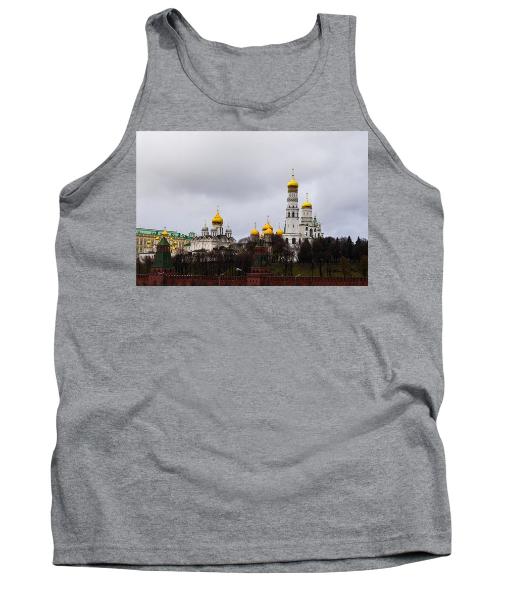 Archangel Tank Top featuring the photograph Moscow Kremlin Cathedrals - Featured 3 by Alexander Senin