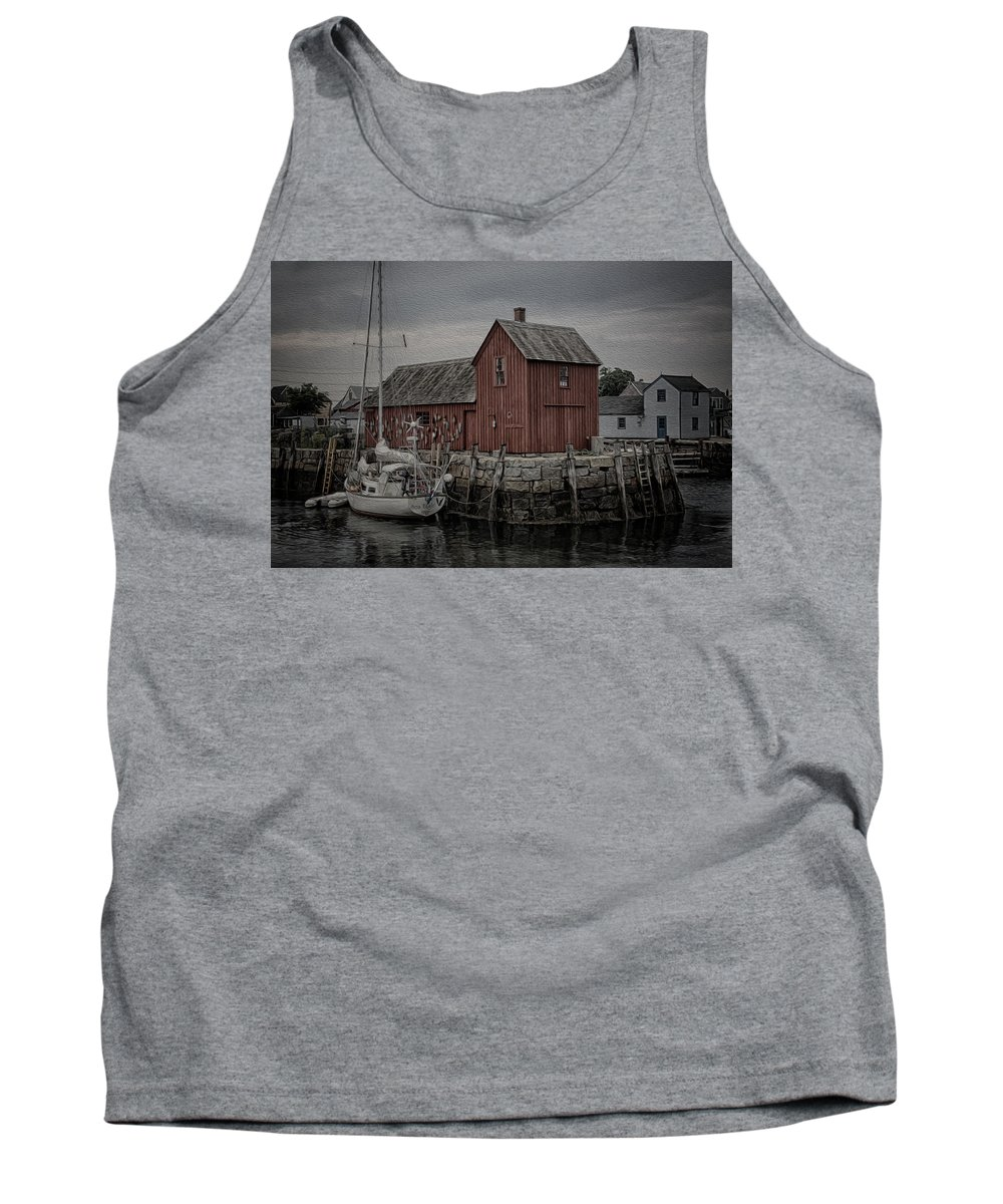 Rockport Tank Top featuring the photograph Motif 1 - Painterly by Stephen Stookey