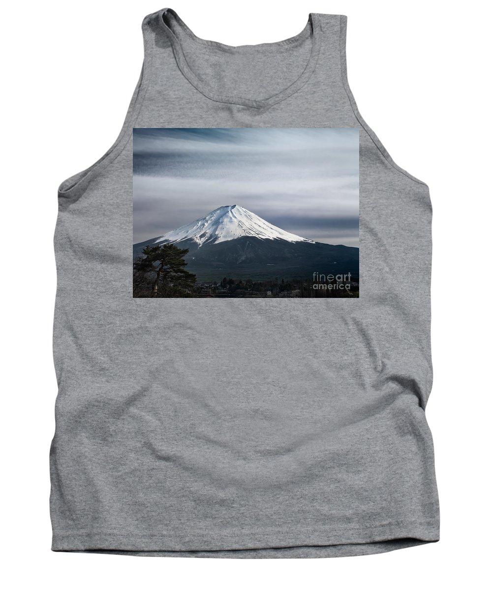Fuji Tank Top featuring the photograph Mount Fuji Japan by Oleksiy Maksymenko