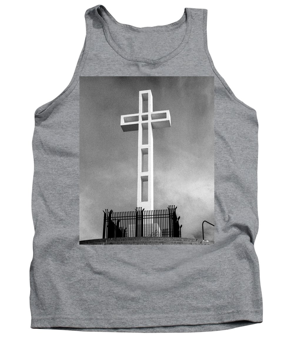 Mount Soledad Cross Tank Top featuring the photograph Mount Soledad Cross by Alex Snay