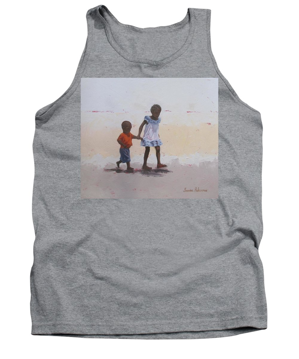 Children Tank Top featuring the painting My Brother by Yvonne Ankerman