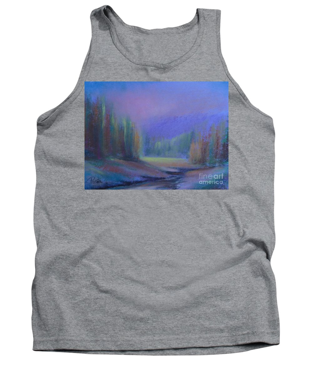 Landscape Tank Top featuring the painting November Symphony 2 by Pusita Gibbs