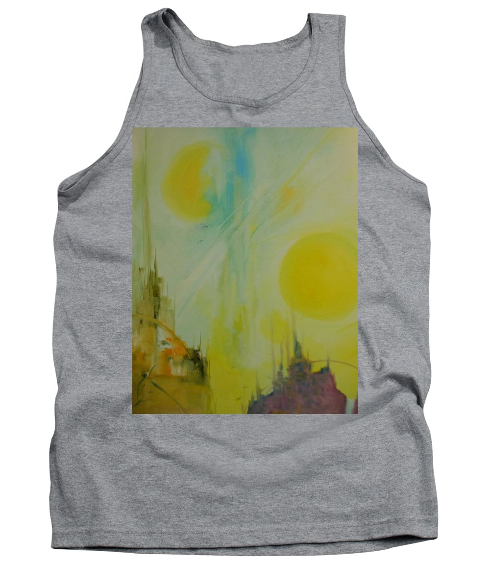 Abstract Tank Top featuring the painting My World by Lord Frederick Lyle Morris