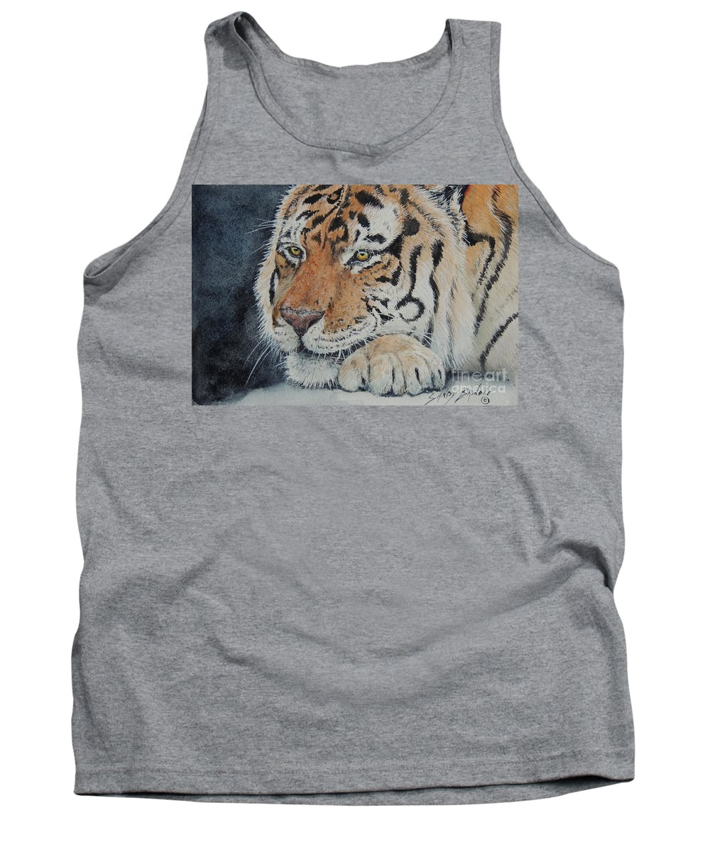 Watercolor Tank Top featuring the painting Nap Time. Sold by Sandy Brindle