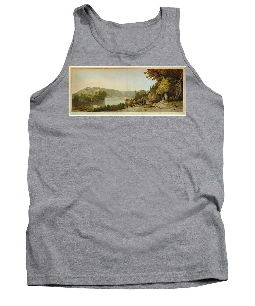 Francis Towne - Veduta Del Tevere Tank Top featuring the painting Veduta Del Tevere  by Celestial Images