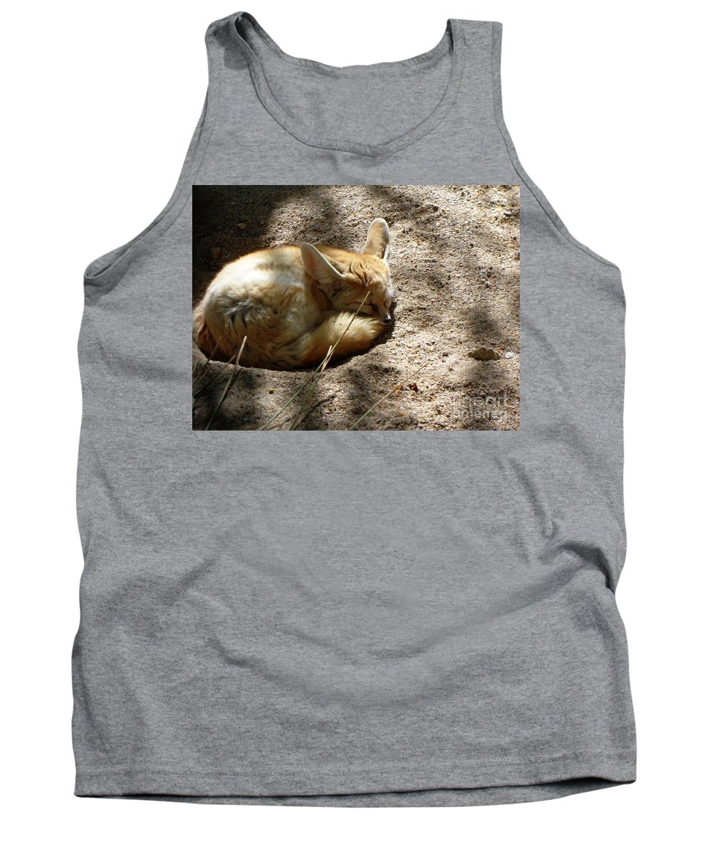 Red Fox Tank Top featuring the photograph Naptime by Lisa Richards