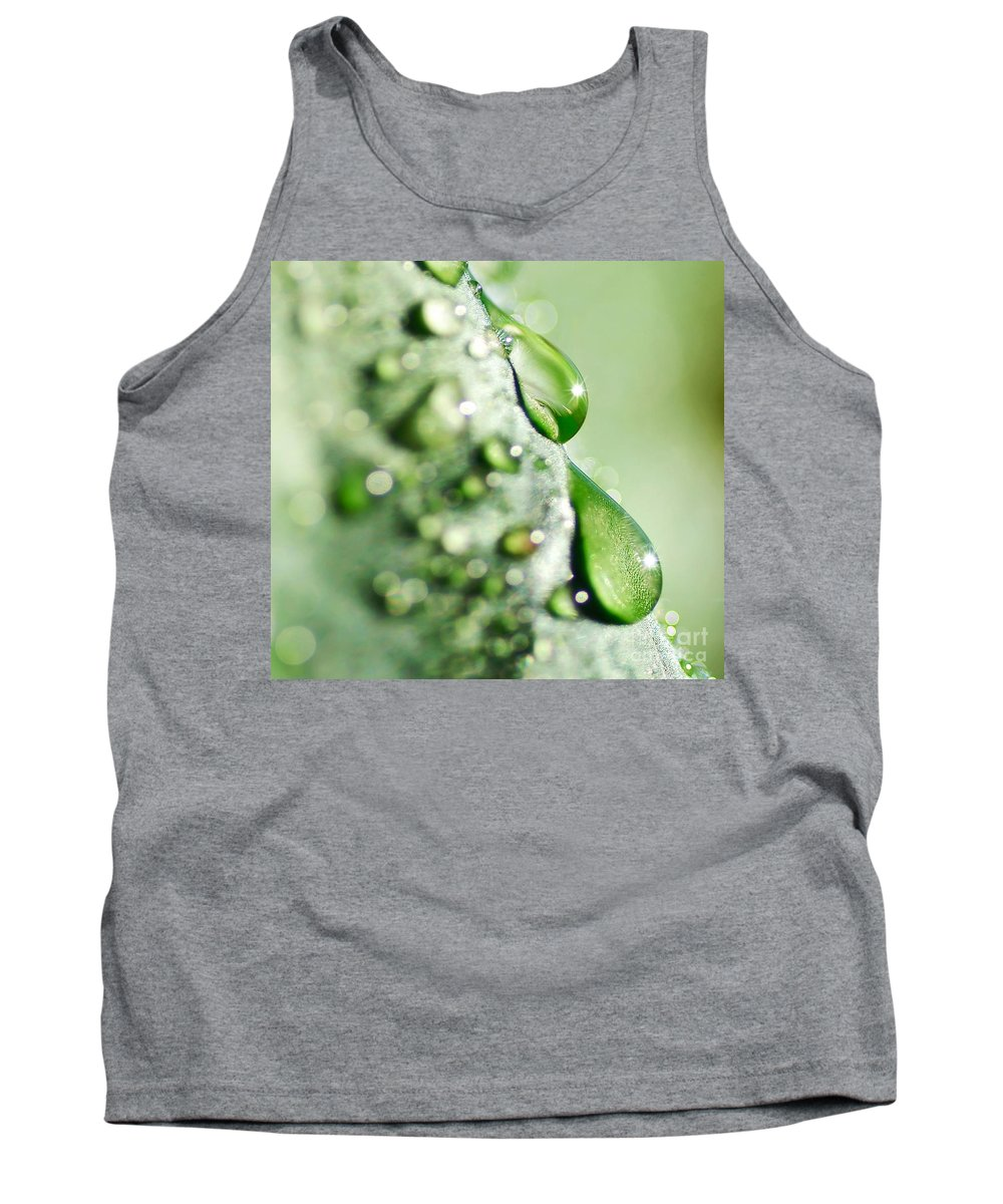 Photography Tank Top featuring the photograph Nature's Teardrops by Kaye Menner