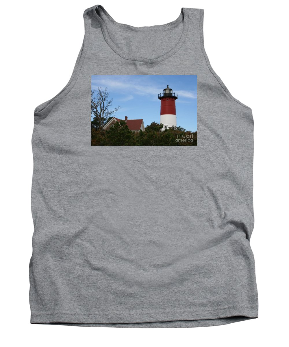 Lighthouse Tank Top featuring the photograph Nauset Beach Light by Christiane Schulze Art And Photography