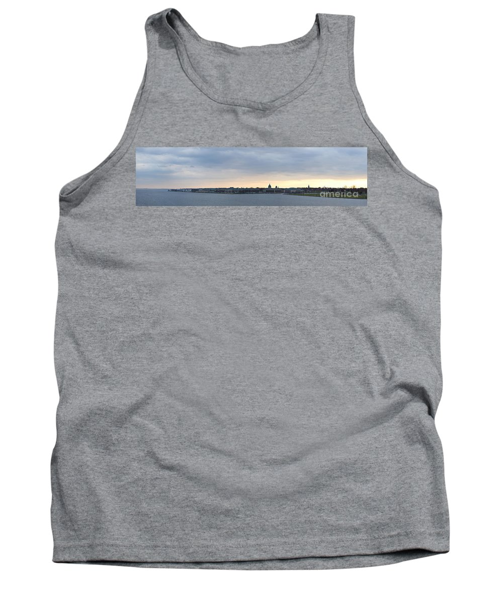 Naval Tank Top featuring the photograph Naval Academy By Day Panorama by Benjamin Reed