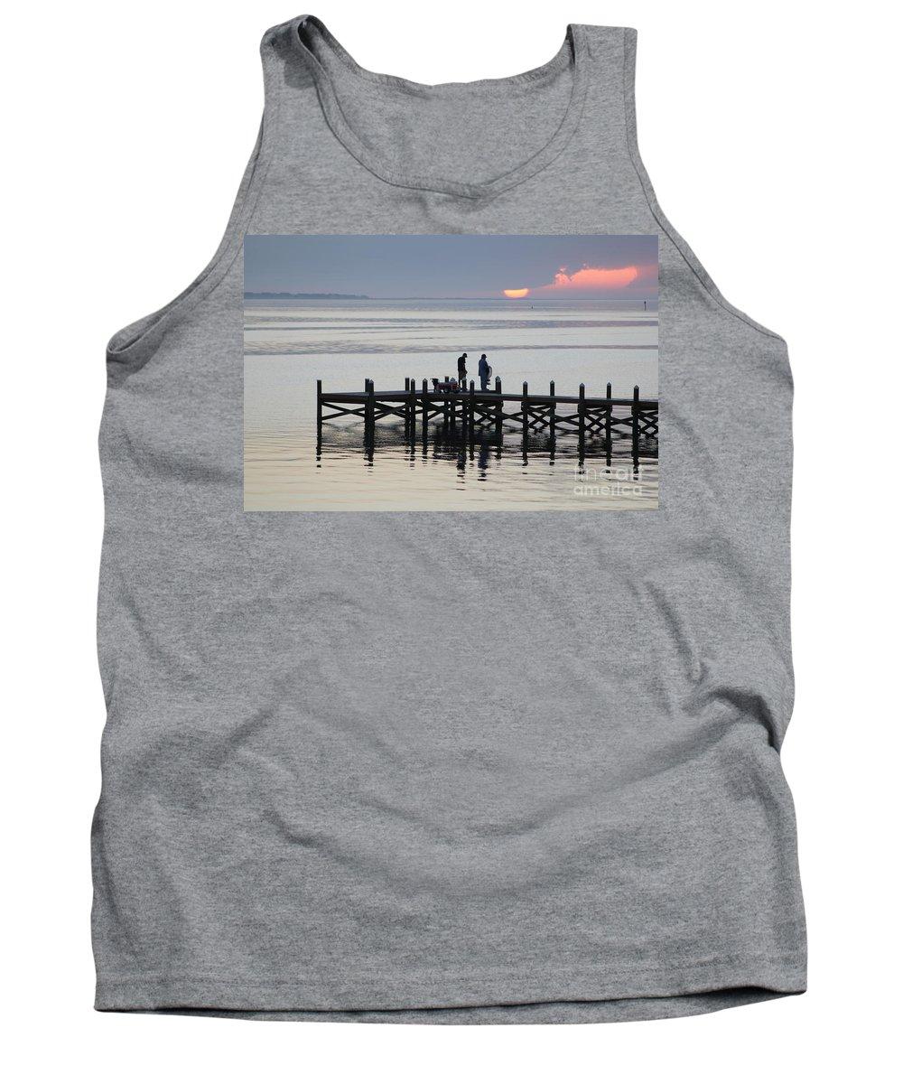 Navarre Beach Pier Tank Top featuring the photograph Navarre Beach Sunset Pier 26 by Michelle Powell