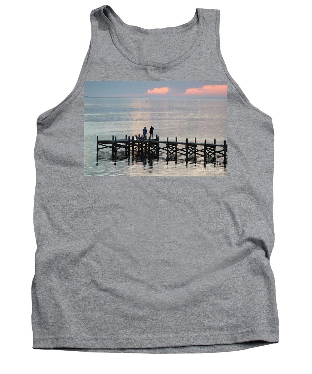 Navarre Beach Pier Tank Top featuring the photograph Navarre Beach Sunset Pier 35 by Michelle Powell