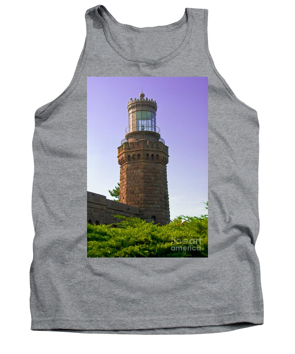 Lighthouses Tank Top featuring the photograph Navesink Twin Lights Lighthouse by Anthony Sacco