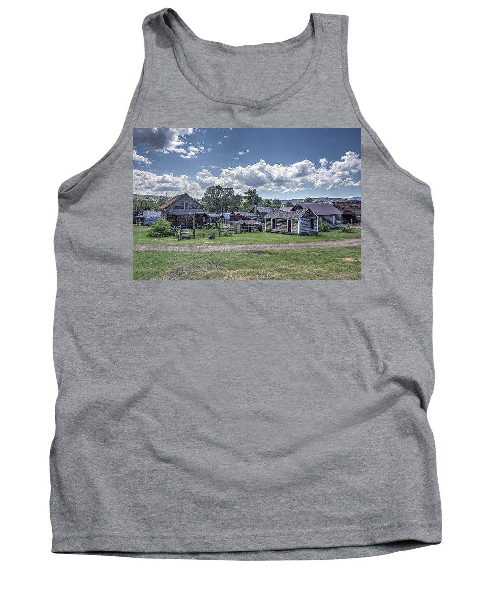 Montana Tank Top featuring the photograph Nevada City Ghost Town - Montana by Daniel Hagerman