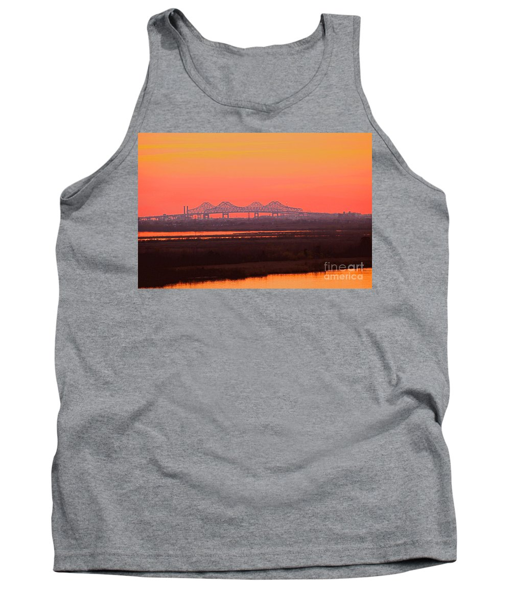 Mississippi Bridge Artistic Photo Tank Top featuring the photograph New Orleans Mississippi Bridge by Luana K Perez