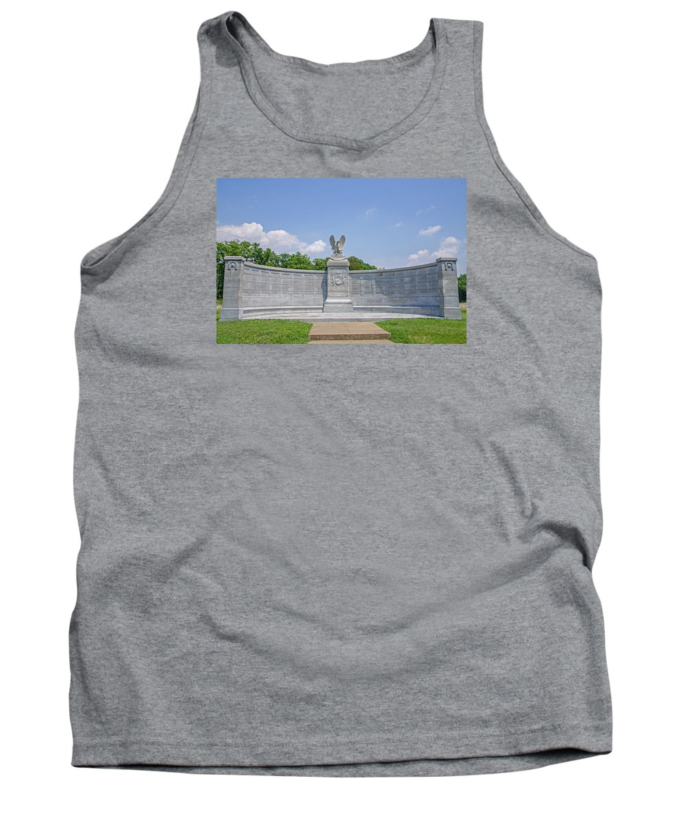 New York Auxiliary State Monument Tank Top featuring the photograph New York Auxiliary State Monument by Susan McMenamin