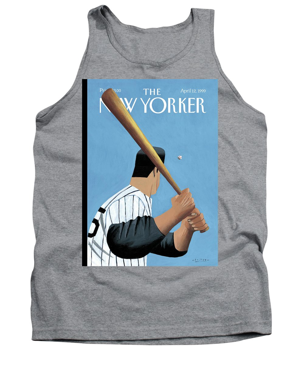 Opening Day Tank Top featuring the painting New Yorker April 12th, 1999 by Mark Ulriksen