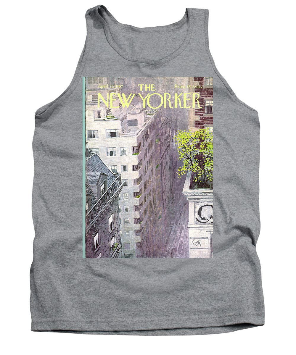 Arthur Getz Agt Tank Top featuring the painting New Yorker April 22nd, 1967 by Arthur Getz