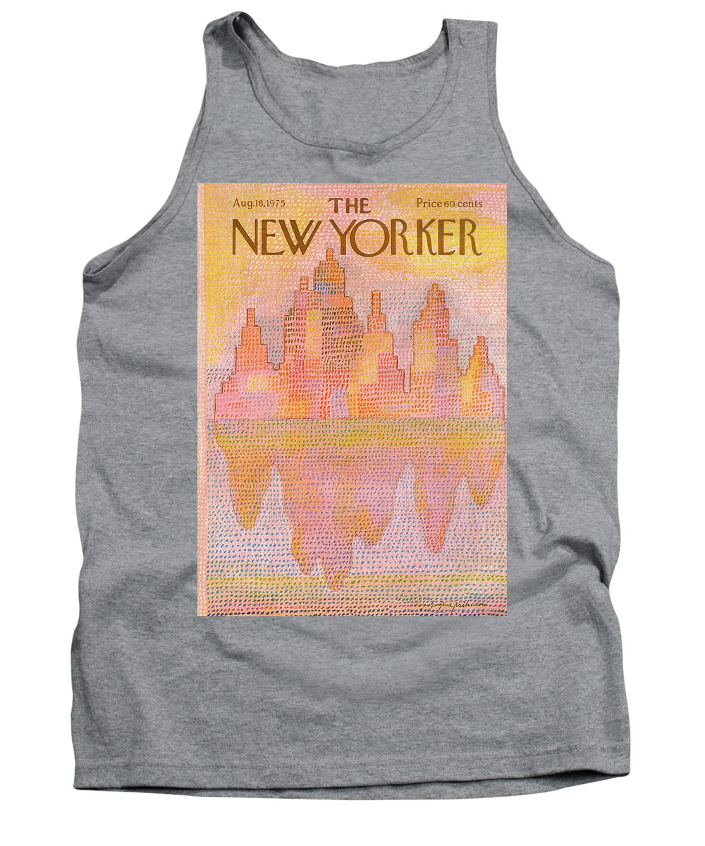 Heat Tank Top featuring the painting New Yorker August 18th, 1975 by Eugene Mihaesco