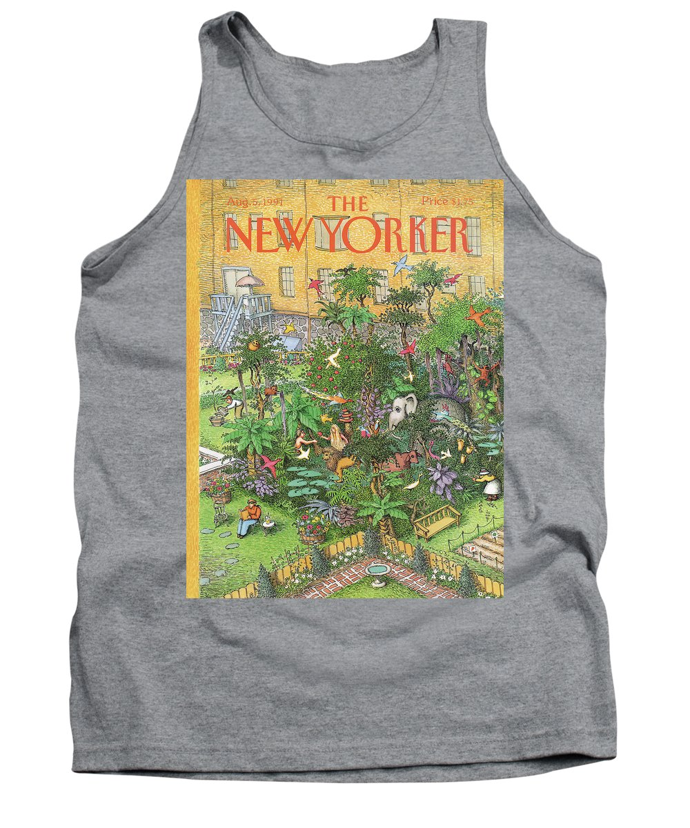 Animals Tank Top featuring the painting New Yorker August 5th, 1991 by John O'Brien