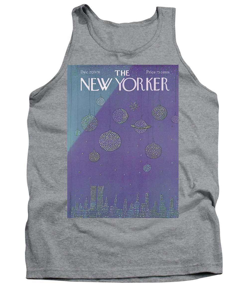 Planets Tank Top featuring the painting New Yorker December 27th, 1976 by Eugene Mihaesco