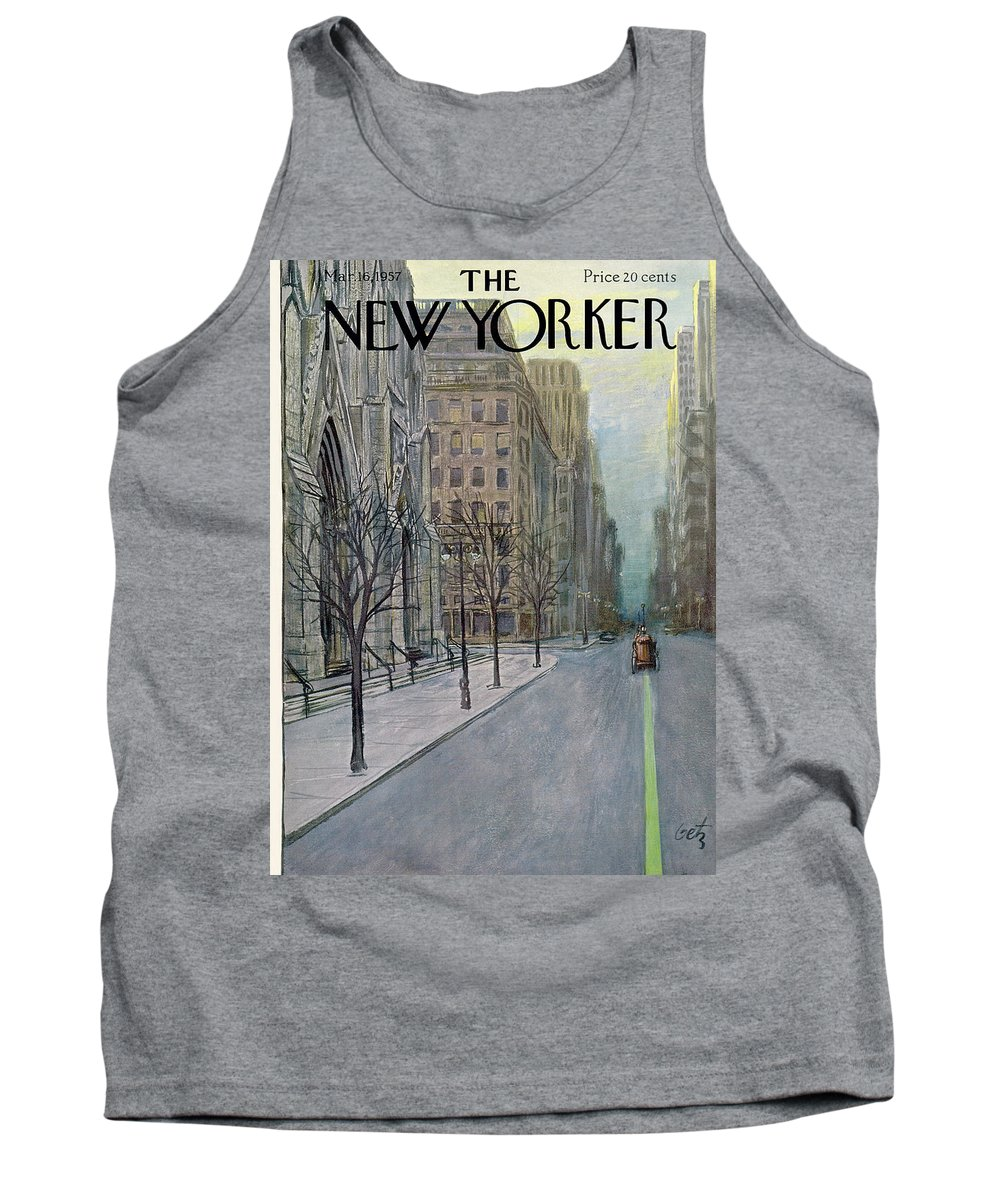 Urban Tank Top featuring the painting New Yorker March 16th, 1957 by Arthur Getz