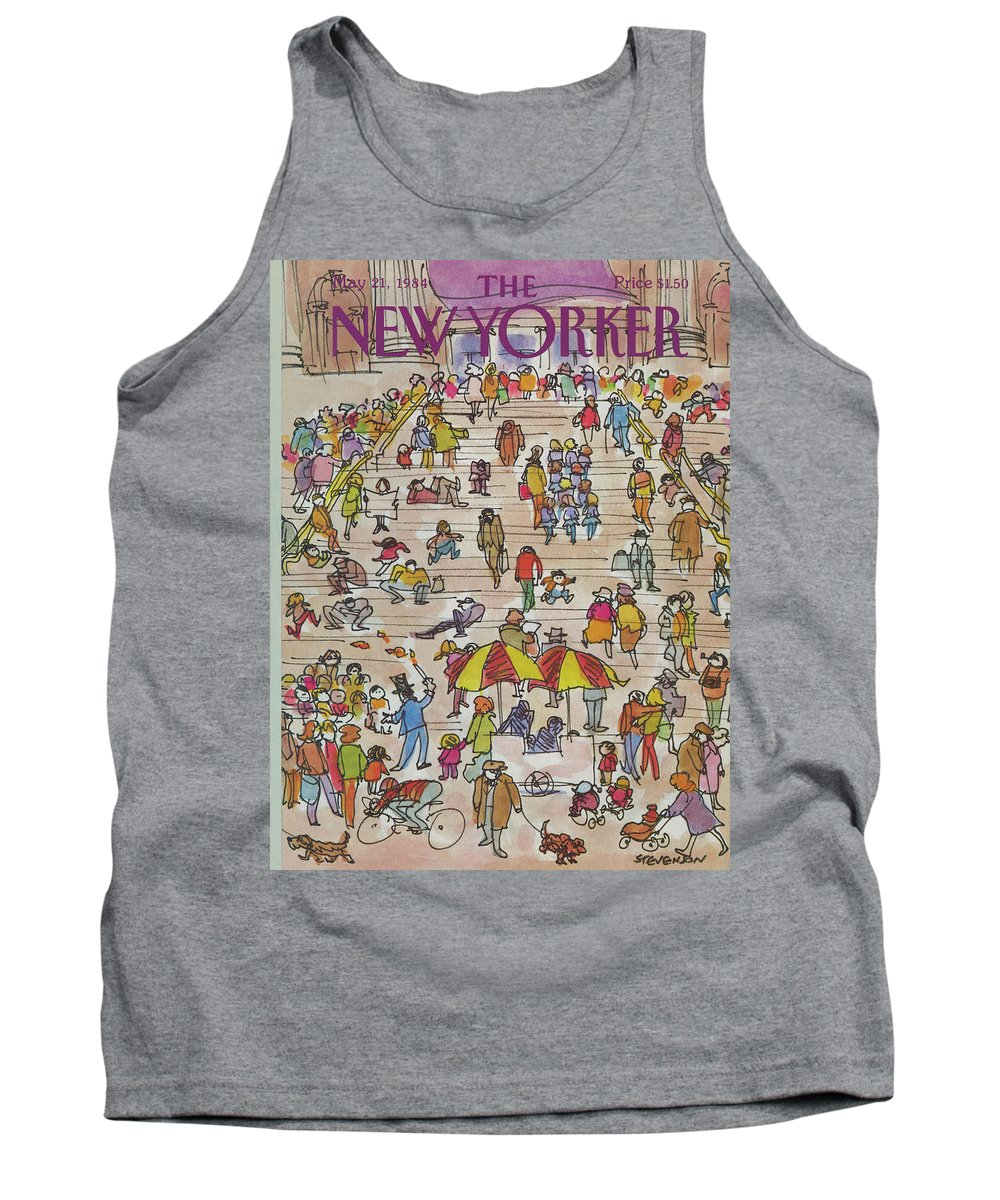 Metropolitan Museum Tank Top featuring the painting New Yorker May 21st, 1984 by James Stevenson