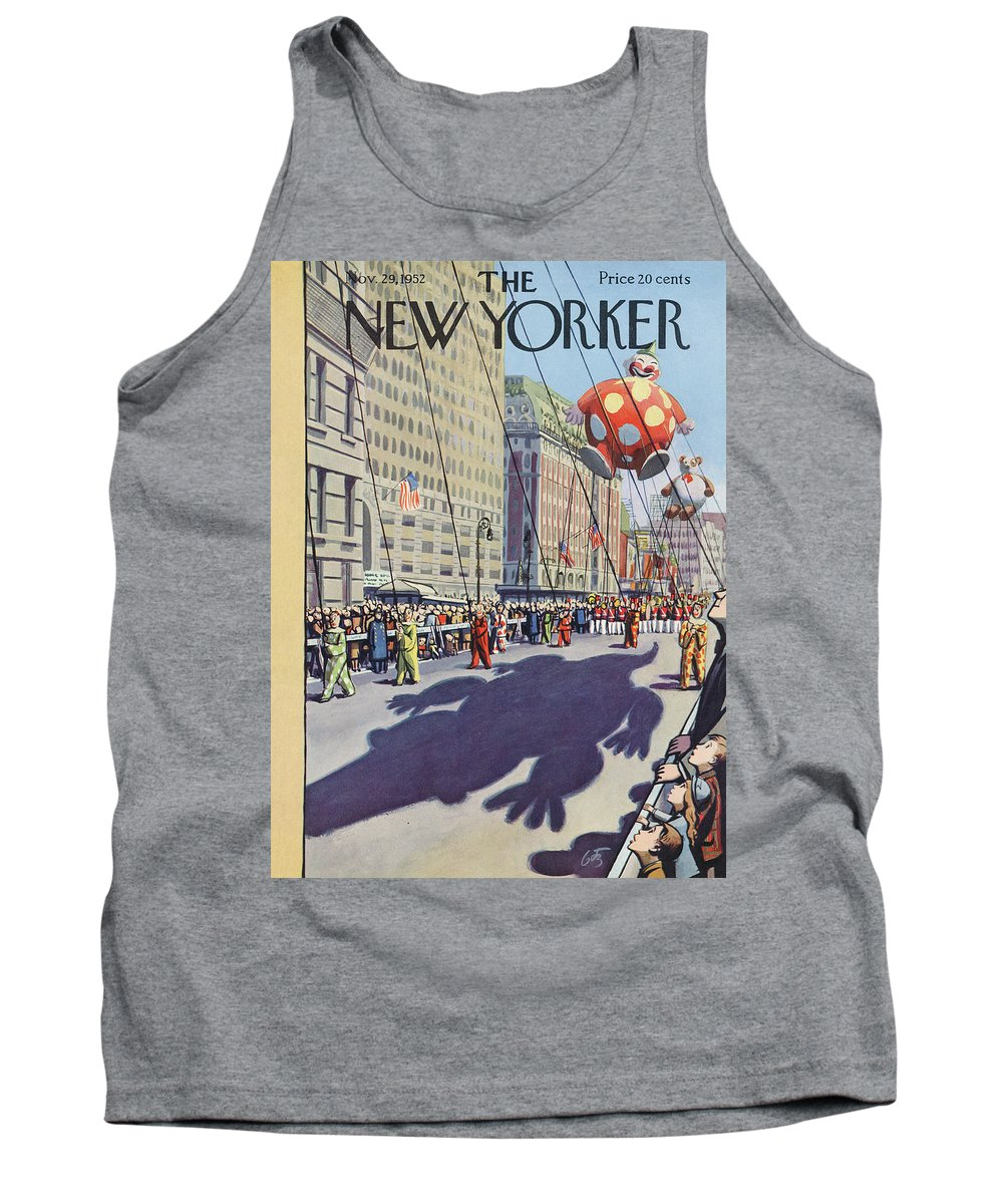 Party Tank Top featuring the painting New Yorker November 29th, 1952 by Arthur Getz