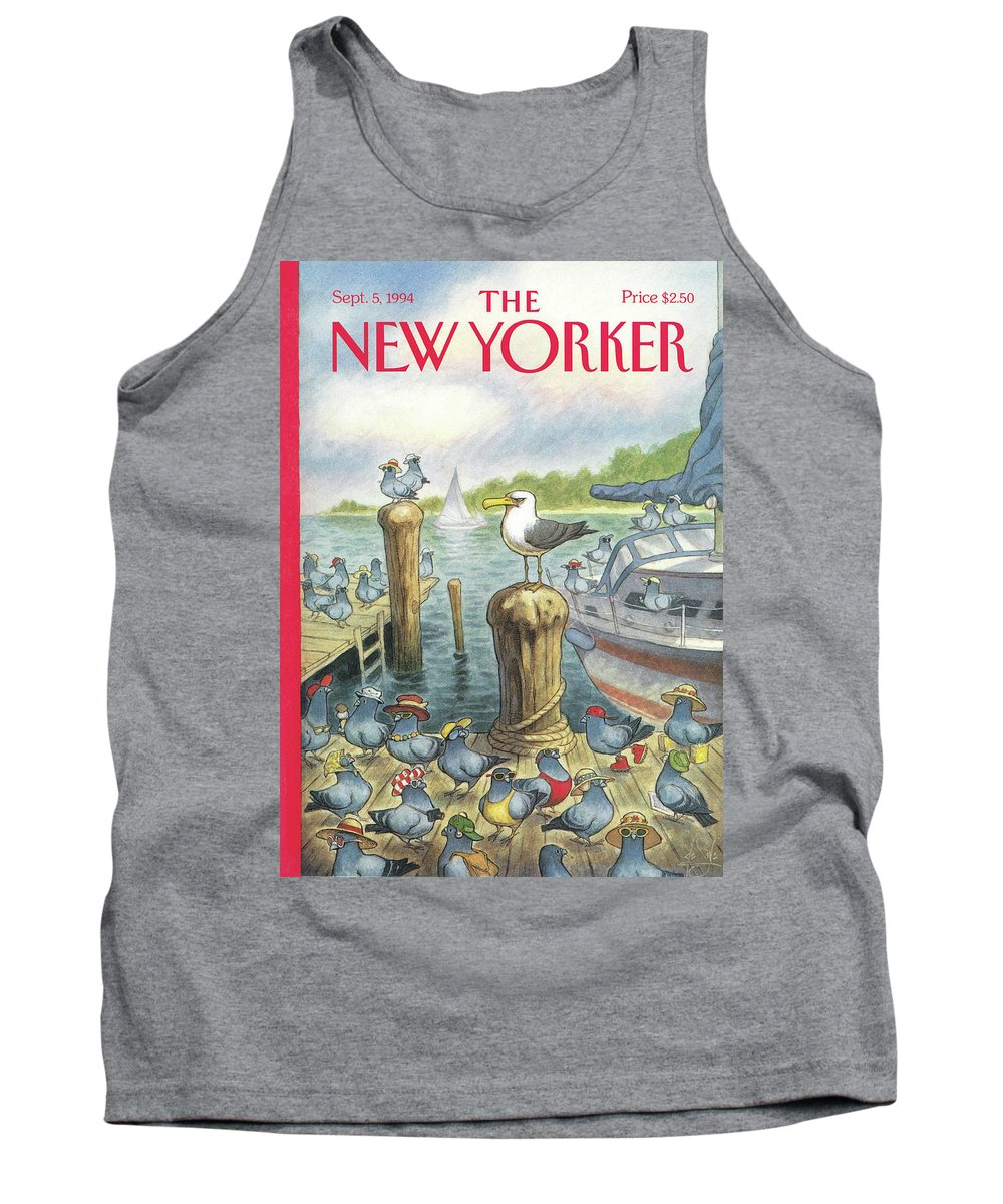 Labor Day Tank Top featuring the painting New Yorker September 5th, 1994 by Peter de Seve