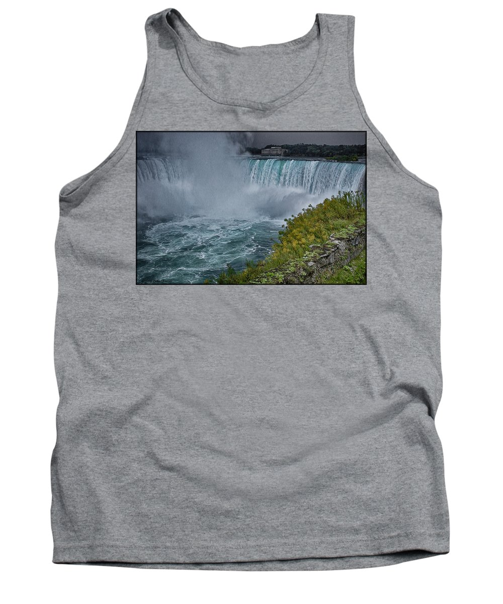 Waterfall Tank Top featuring the photograph Niagra Falls In Oil by Erika Fawcett