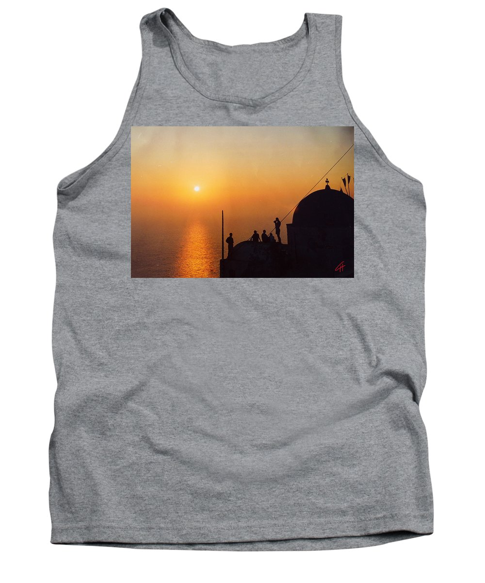 Colette Tank Top featuring the photograph Night On Santorini Island by Colette V Hera Guggenheim