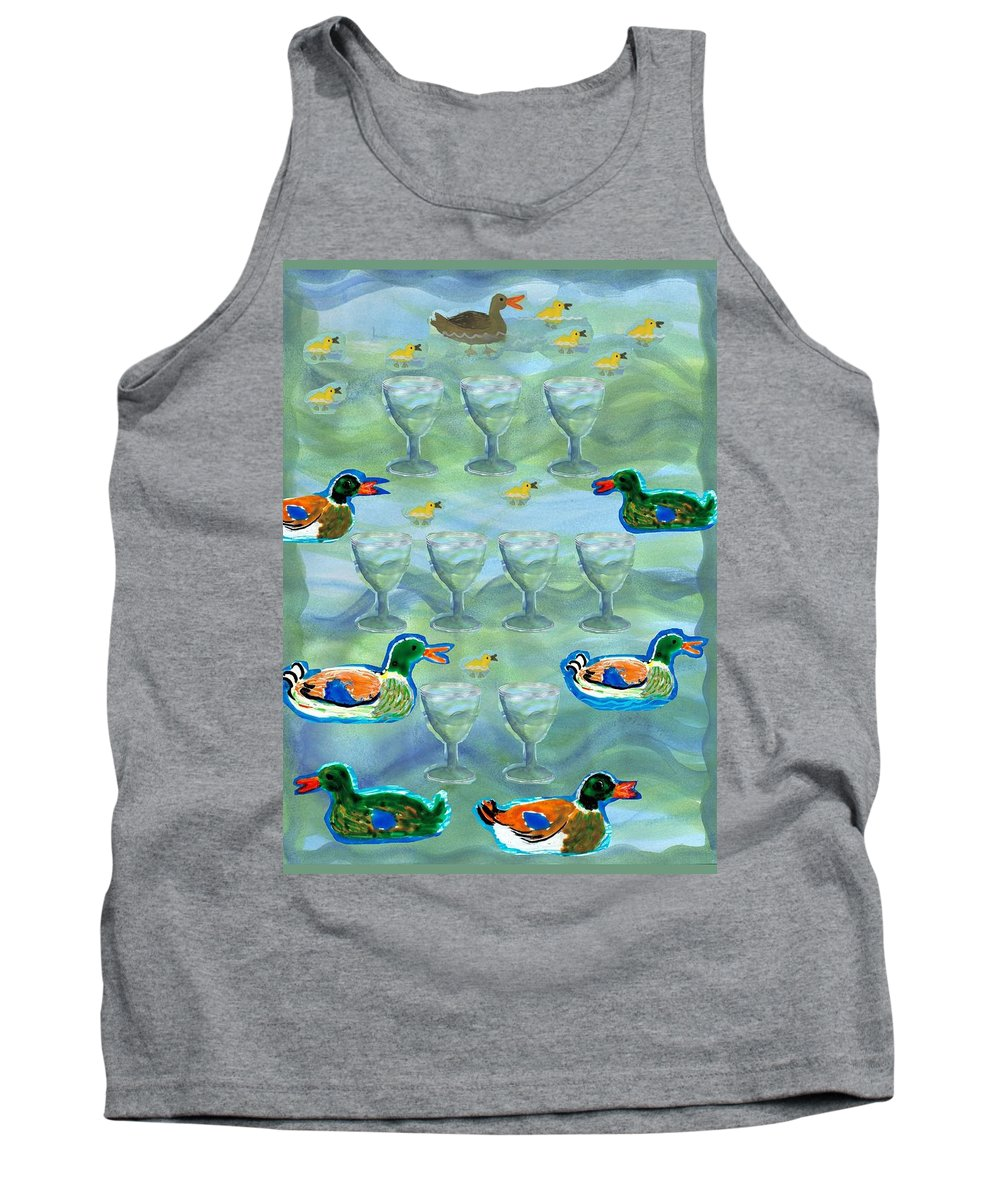Tarot Tank Top featuring the painting Nine Of Cups by Sushila Burgess