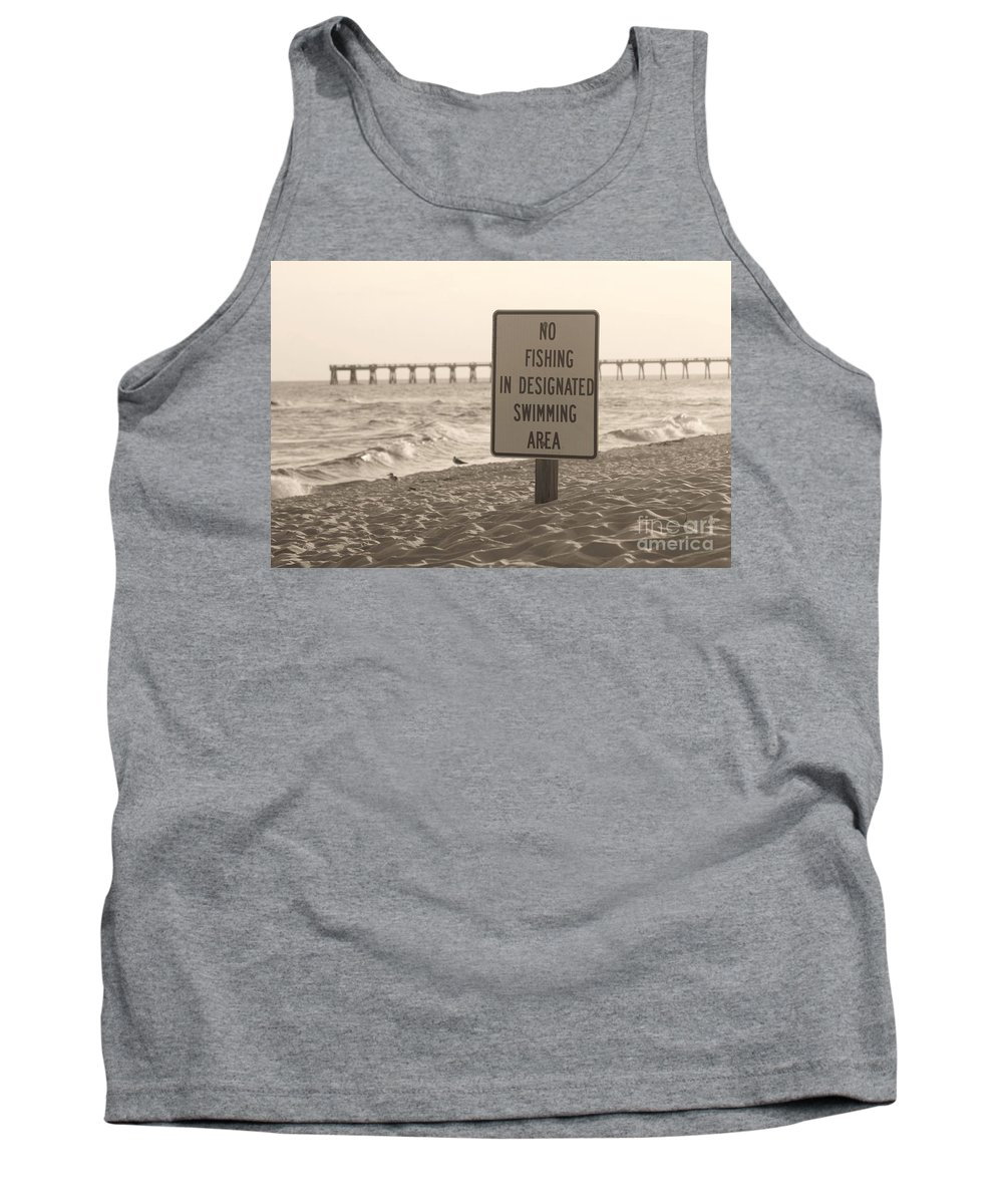 Fish Tank Top featuring the photograph No Fishing by Michelle Powell