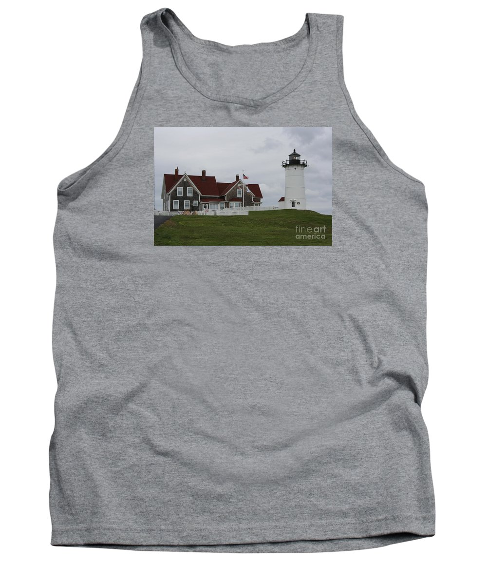 Lighthouse Tank Top featuring the photograph Nobska Point Light by Christiane Schulze Art And Photography