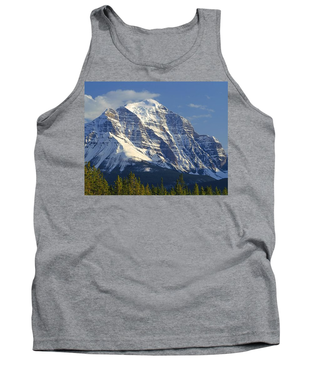 North Face Tank Top featuring the photograph 1m3549-north Face Of Mt. Temple by Ed Cooper Photography