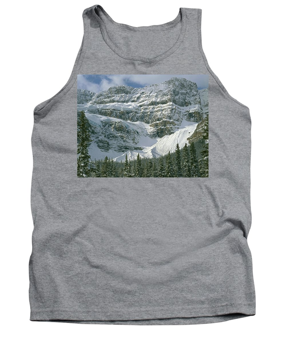 North Side Tank Top featuring the photograph 1m3536-north Side Of Crowfoot Mountain by Ed Cooper Photography