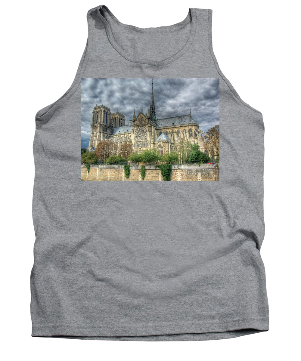 Paris Tank Top featuring the photograph Notre Dame by Michael Kirk