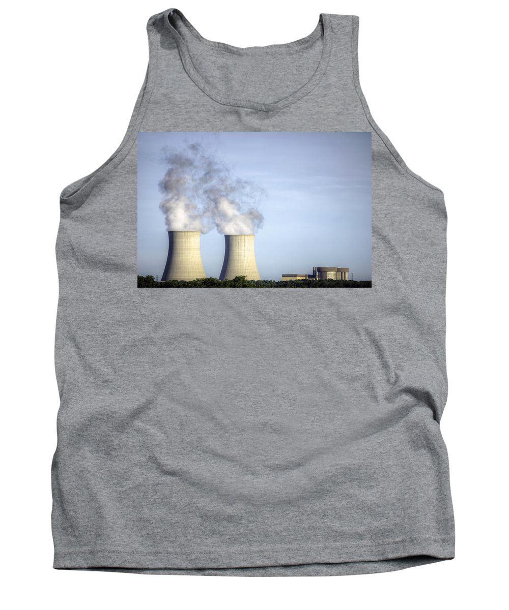Byron Nuclear Plant Hdr Tank Top featuring the photograph Nuclear Hdr3 by Josh Bryant