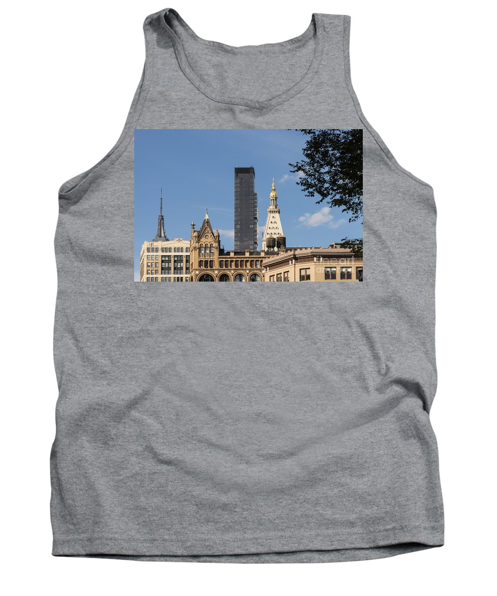 Building New York City Cityscape Cityscapes Buildings Architecture Cities Structure Structures Skyscraper Skyscrapers Tank Top featuring the photograph Standing Above The Rest by Bob Phillips
