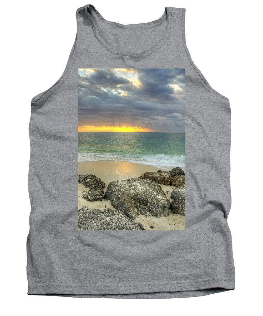 Sunrise Tank Top featuring the photograph Ocean At Dawn by Donna Doherty
