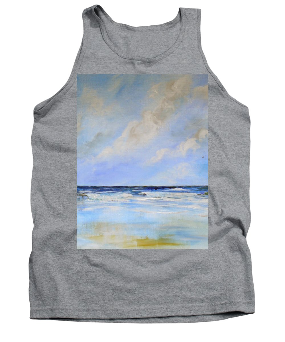 Beach Tank Top featuring the painting Ocean View by Dorothy Maier