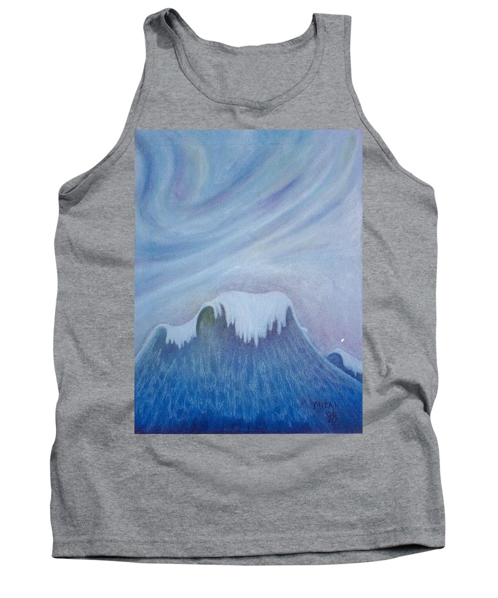Ocean Tank Top featuring the painting Ocean Wave by Micah Guenther