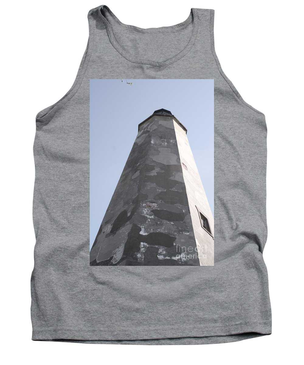 Lighthouse Tank Top featuring the photograph Old Baldy Lighthouse Nc by Nadine Rippelmeyer