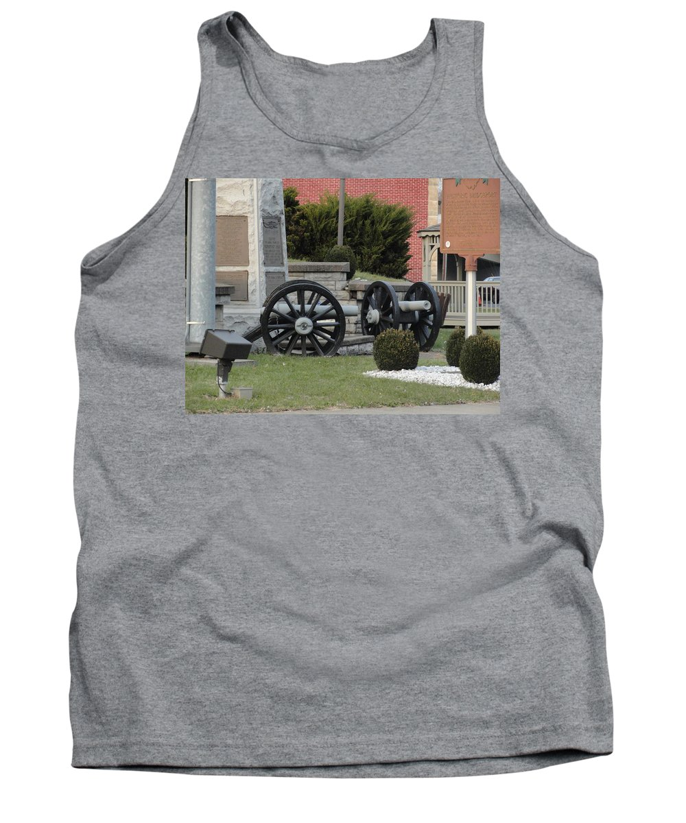 Tank Top featuring the photograph Old Canons In Time Square by Stephanie Irvin