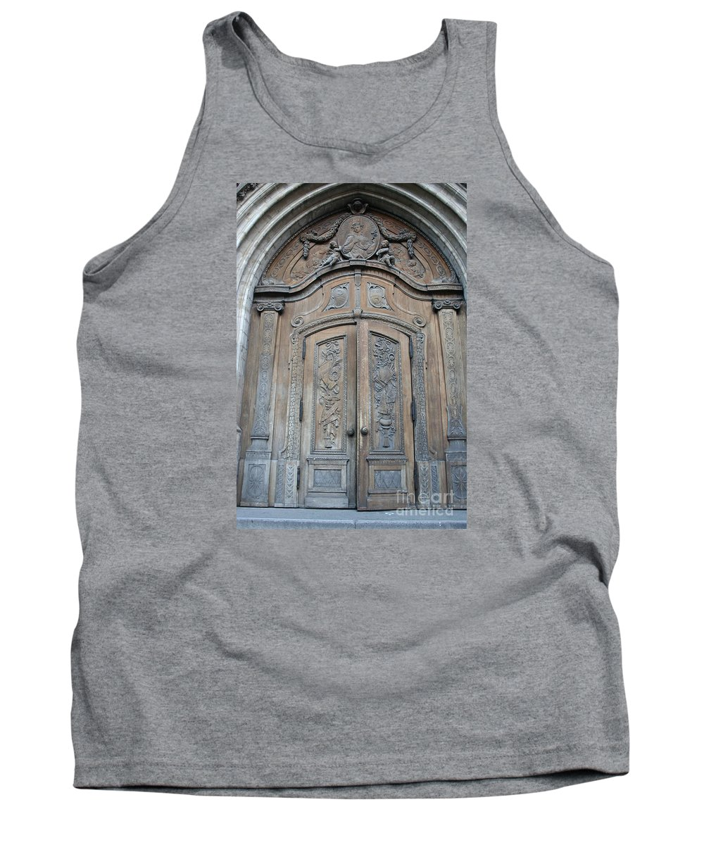 Church Tank Top featuring the photograph Old Church Door by Christiane Schulze Art And Photography